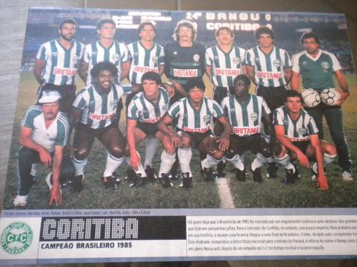 poster coritiba campeão brasileiro 1985 21 x 27 cm