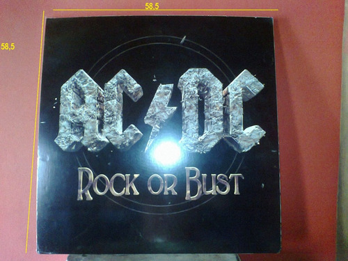 poster cuadro ac- dc rock or bust-