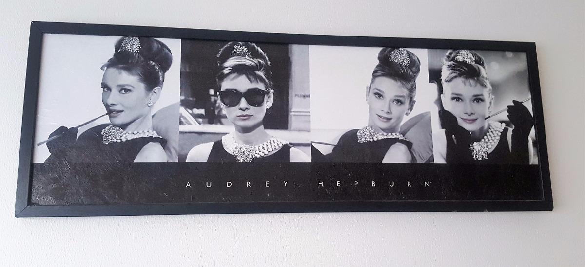 Poster Cuadro Audrey Hepburn Enmarcado Terminado Tipo Óleo ...