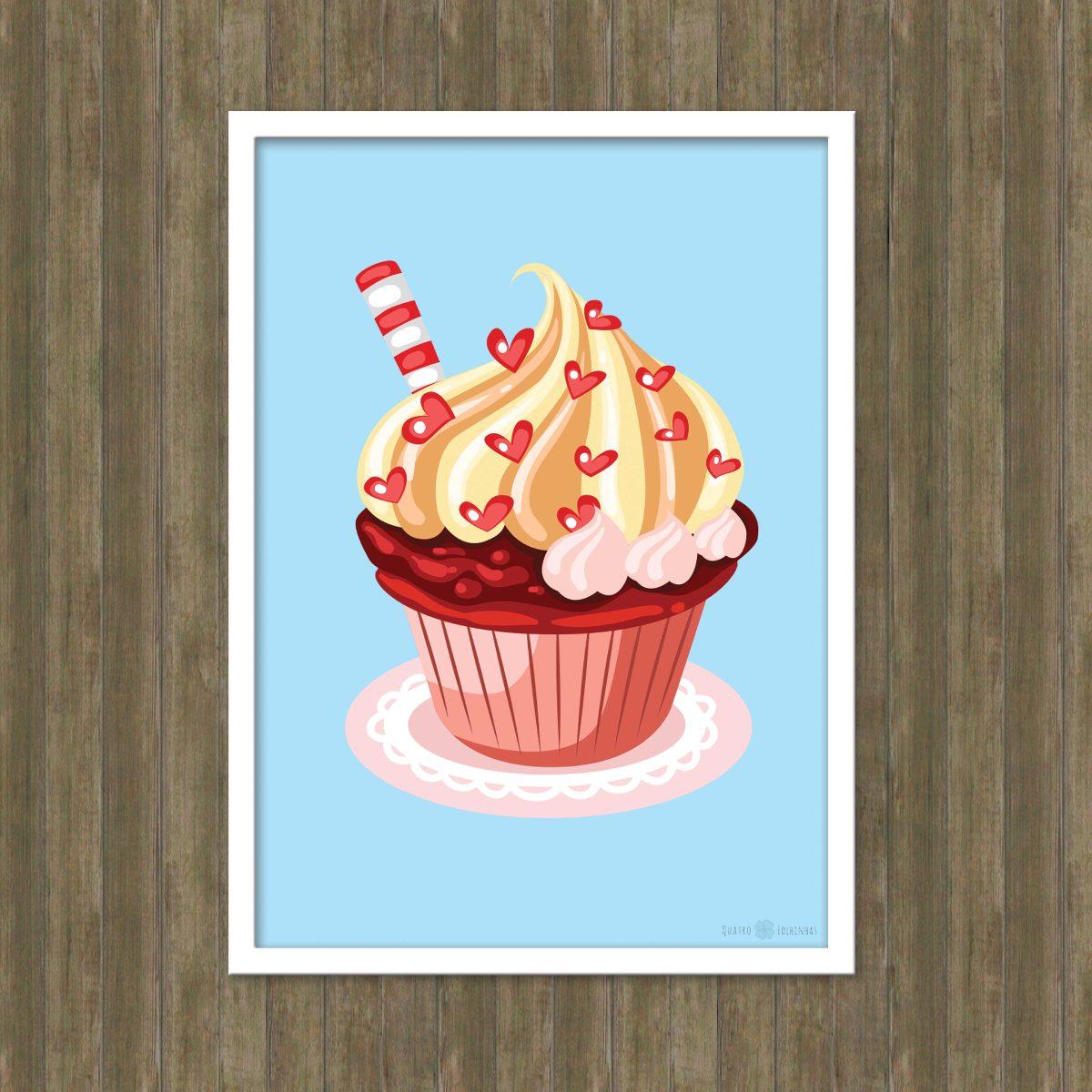 poster cupcake pdf arte digital imprimir a4 r 25 00 em mercado livre