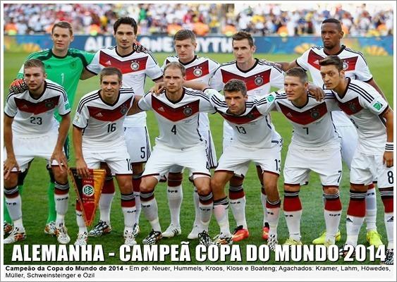 Poster Da Alemanha - Campeã Da Copa Do Mundo 2014 - R  24 df8912b15c419