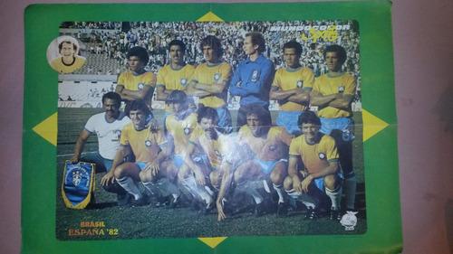 poster de brasil y alemania mundial españa 82