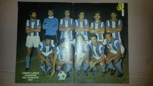 poster de cerro largo campeon del noreste año 1981