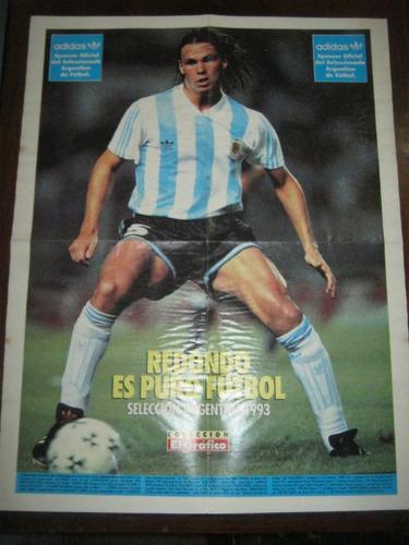 poster de fernando redondo con la seleccion argentina