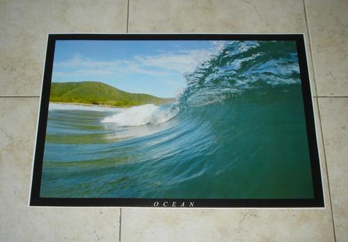 poster de imagen de olas