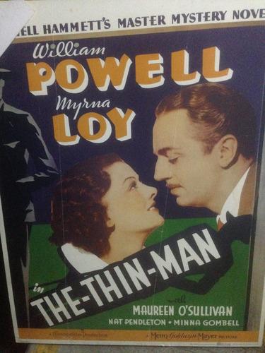 poster de la película: the thin man