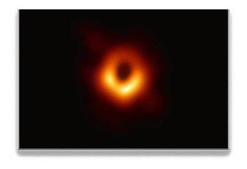 póster de la primera foto de la galaxia de la vía láctea, di