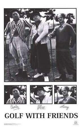 poster de los 3 chiflados jugando al golf - 90 x 60 cm