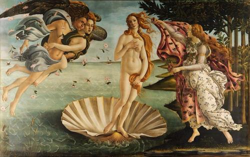 poster de parede nascimento de vênus 57x90cm botticelli