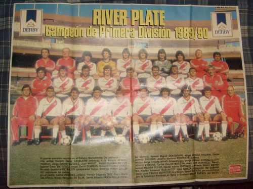 poster de river plate argentina campeon 1989/90