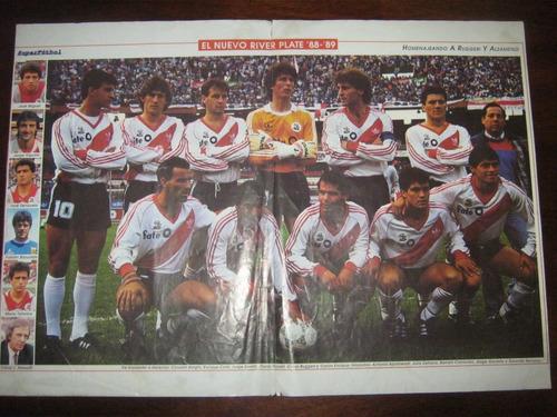 poster de river plate argentino temporada 88/89