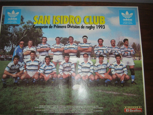 poster de san isidro campeon 1993 rugby