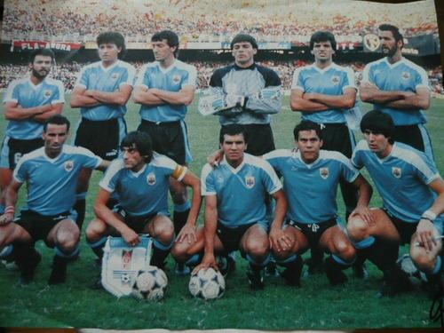 poster de uruguay copa america año 1989 - maracana