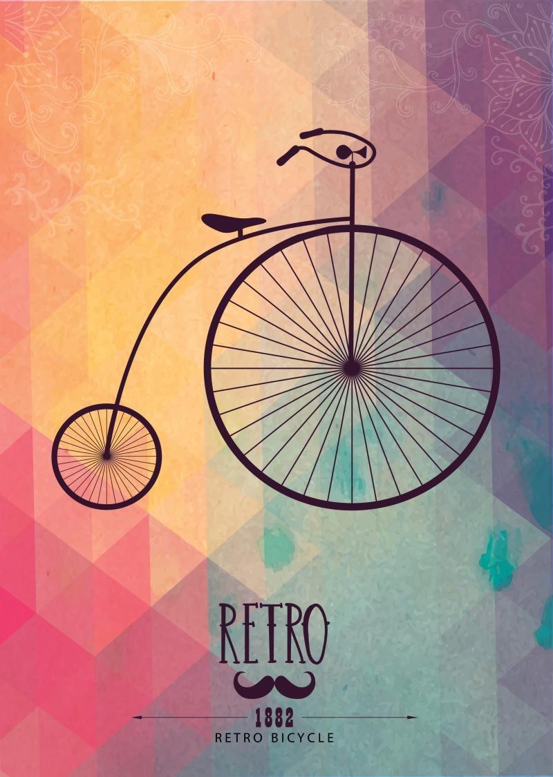 Poster decorativos bicicleta retro hipster a4a3pl197 r - Posters decorativos ...