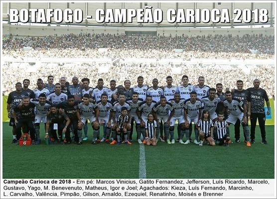 Poster Do Botafogo - Campeão Carioca 2018 - R  24 edbf4d5792903