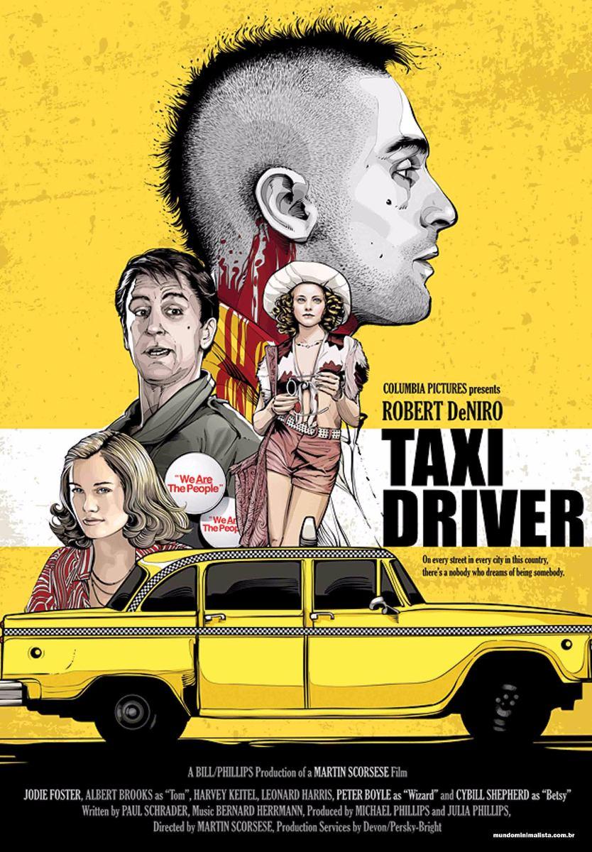 Poster Do Filme Taxi Driver Com Moldura E Tamanho A4 - R$ 59,40 em ...
