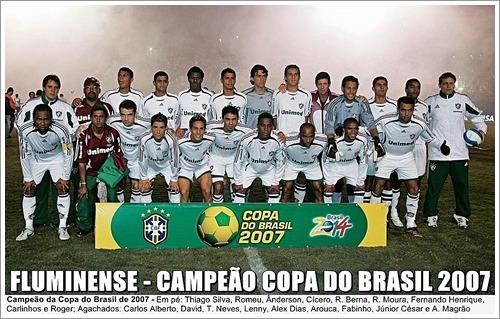poster do fluminense - campeão da copa do brasil 2007