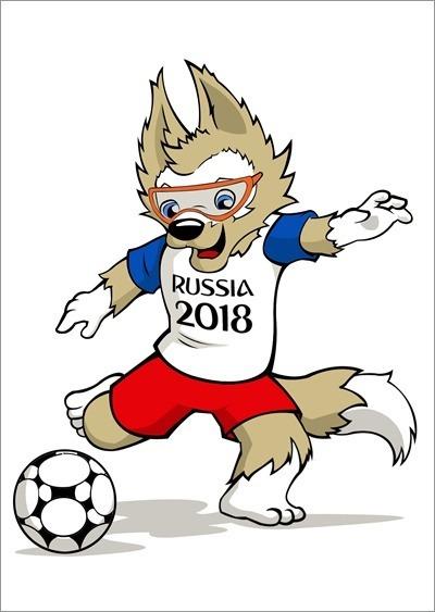 Poster Do Mascote Da Copa Do Mundo De 2018 - Confira! - R  24 6150ef99f53ab