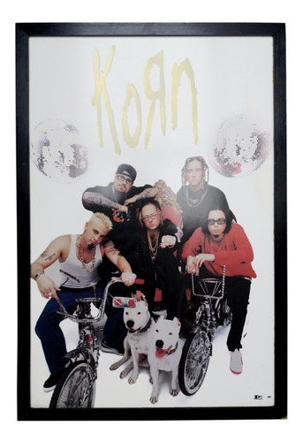 poster doble original korn 1998 de coleccion