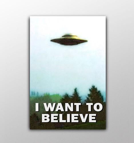 poster em lona - arquivo x - i want to believe - 60x90cm