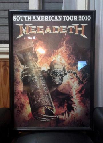 poster encuadrado megadeth