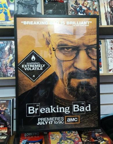 póster enmarcado serie breaking bad 50x70 (envío gratis)