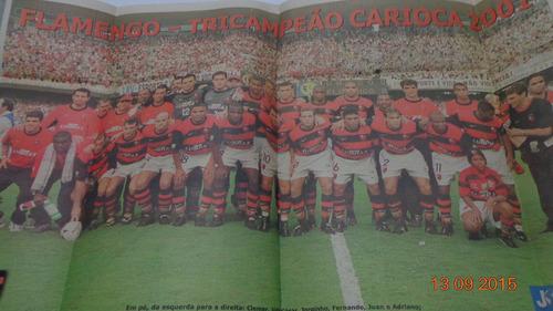 poster flamengo tri campeão carioca 2001