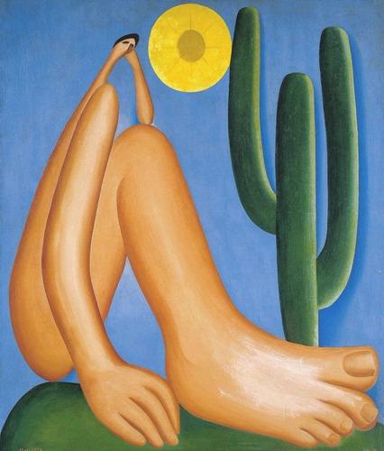 poster foto obra abaporu tarsila do amaral 50x65cm decoração