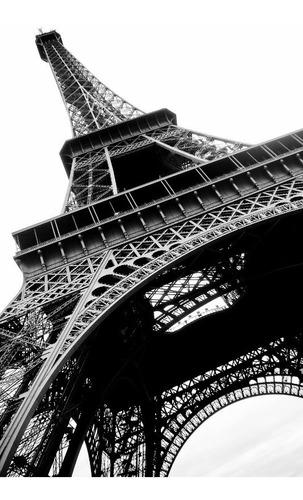 poster foto paris 60x90cm preto e branco para sala