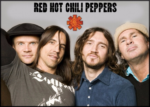 poster foto rock banda 60x84cm red hot chili peppers