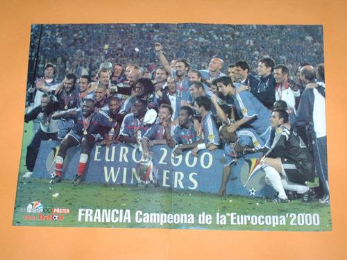 poster francia campeon eurocopa 2000 don balon