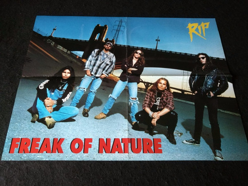 poster freak of nature * poison * 54 x 41 cms. (n065)