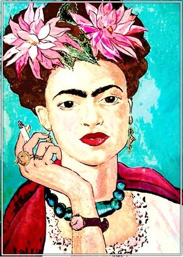 poster frida kahlo 60x84cm arte mexico para decorar ambiente