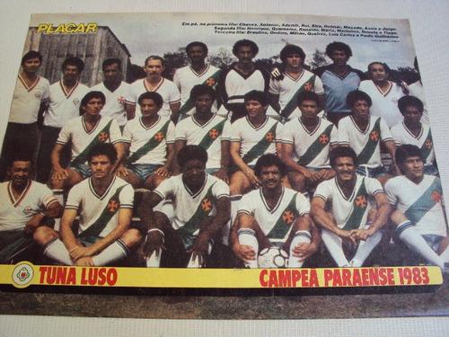 poster futebol tuna luso campeão paraense 1983