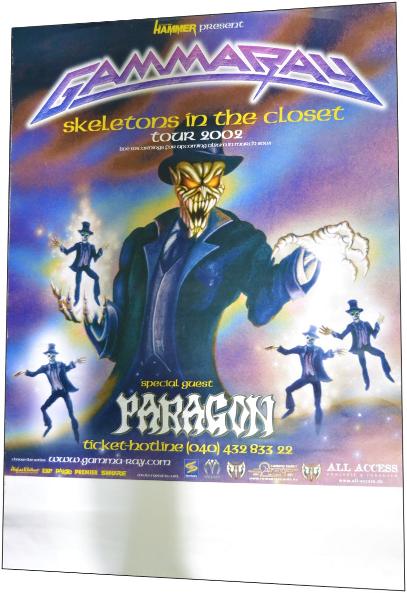 Poster Gamma Ray Skeletons In The Closet Tour Paragon Hellow