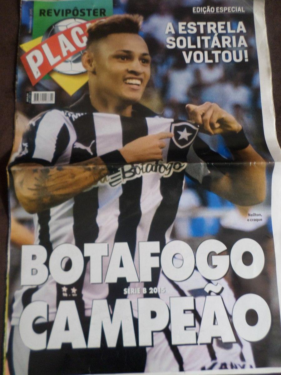 1174d715d6 poster gigante placar botafogo futebol regatas campeão 2015. Carregando zoom .