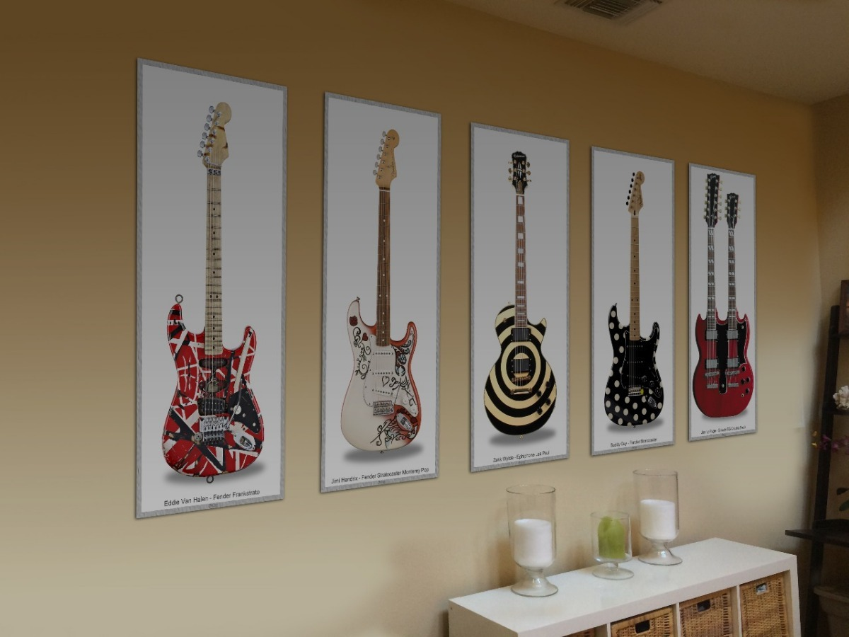 Poster Guitarra Original Billie Joe Armstrong Fender Strat R 49