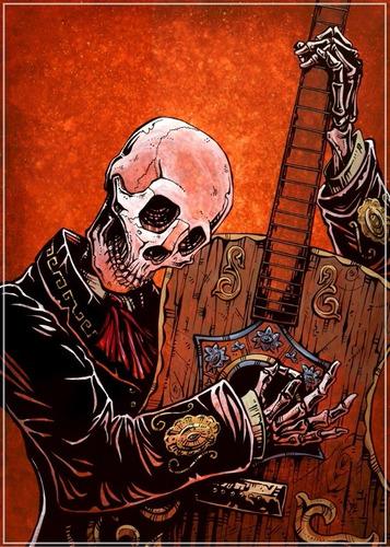 poster hd 65x100cm caveira mexicana musica x ornamentar sala