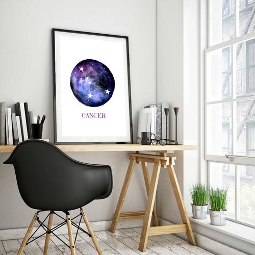 poster horóscopo astrología   constelación zodiaco 45 x 32