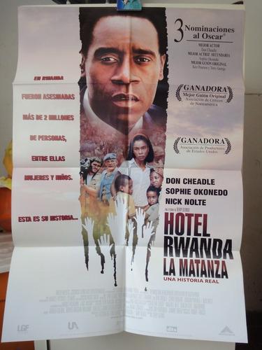 poster hotel rwanda don cheadle sophie okonedo nick nolte