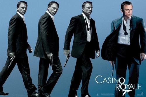 poster importado james bond 007 - casino royale