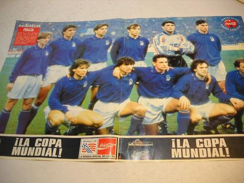 poster italia formacion 1994. coca cola