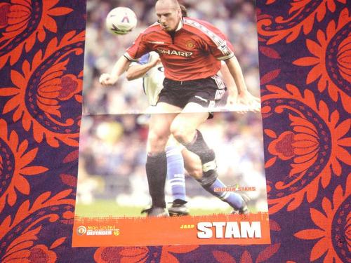 poster jaap stam manchester united inglaterra 1999