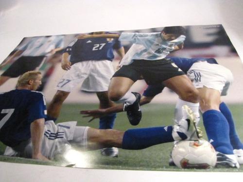 poster juan r riquelme. selección futbol argentina