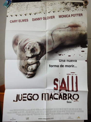 poster juego macabro saw cary elwes danny glover moni potter