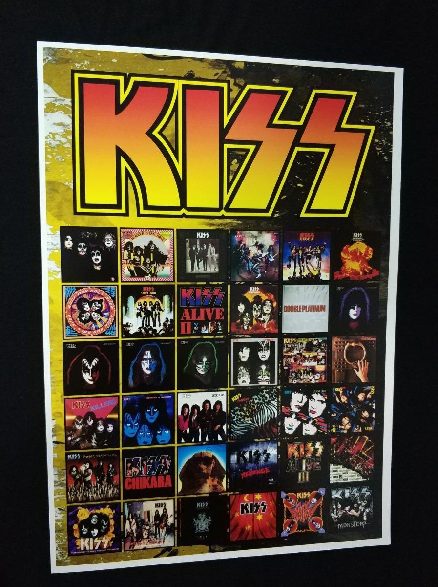 Poster Kiss Discografia Show Banda Kiss Alive! Vinil Kiss - R  49 a390be6c09ce8