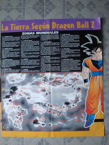 poster la tierra segun dragon ball z exc estado 44x52