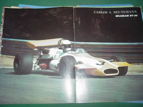 poster lamina de revista corsa reutemann brabham bt-30 mo1
