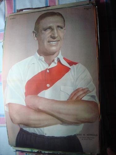 póster lámina futbol minella. river. el gráfico 1935