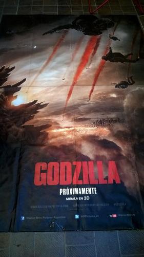poster lona original cine godzilla decorar